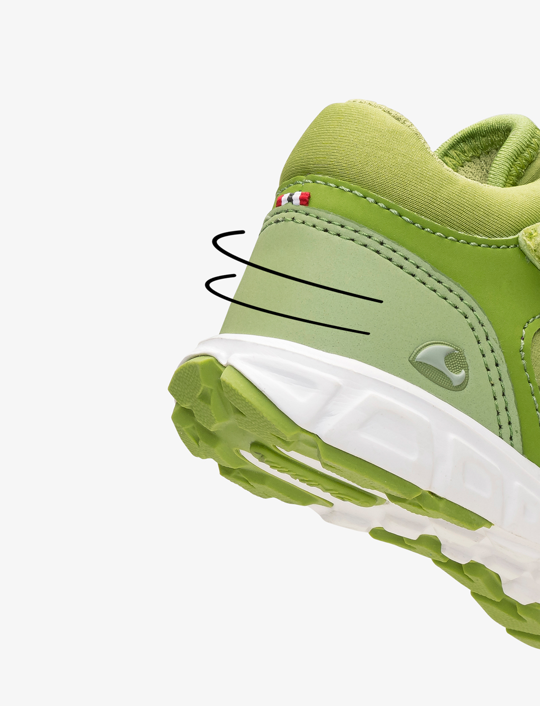 Green kids shoes